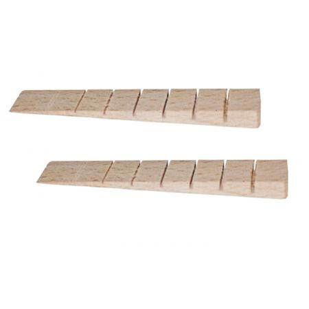 Cales striées en bois